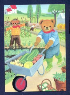 G4717 4x6 Modern Medici Postcard Teddy Gardner Bear