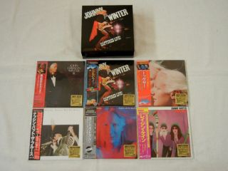 Johnny Winter Japan Blue Sky Years 6 Mini LP CD SS Promo Captured Live Box Set
