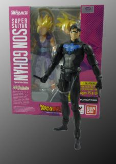 DC Universe Custom Young Justice Nightwing SDCC 2012 S H Figuarts Gohan