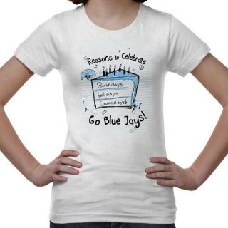 Johns Hopkins Blue Jays Youth Celebrate T Shirt White