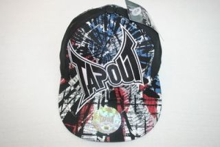NWT MMA TAPOUT UFC Stretch Fitted baseball CAP Black HAT 57CM 58CM 59CM Rare