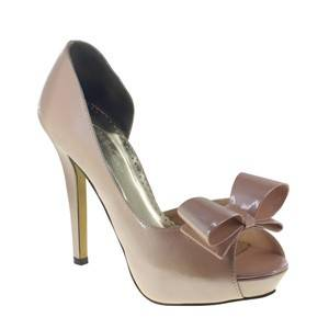 Bow by Johnathan Kayne in Champagne Bridal Bridesmaid Prom Pageant Shoes