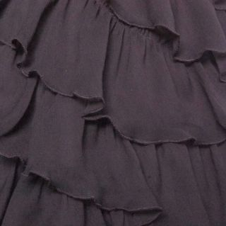 Betsey Johnson Sequins Crinkle Chiffon Dress 2 Black