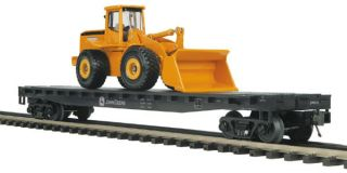 RAIL KING RAILKING MTH 20 98506 John Deere Flat Car w 1 Wheel Loader
