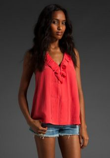 JOIE Silk Tasha Blouse Top Shirt MED 178 Hibiscus Coral Orange NWT Sold Out