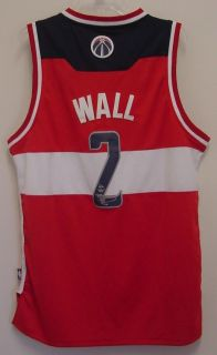 JOHN WALL WASHINGTON WIZARDS AUTOGRAPHED SIGNED RED WHITE BLUE JERSEY COA