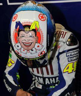 Valentino Rossi's agv GP Tech Jolly Joker Helmet MotoGP