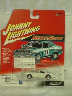 Johnny Lightning '57 Vette Gasser Rebel Rods