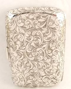 Antique Hallmarked Sterling Silver Cigarette Case 1902 John Edward Wilmot