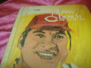 "1974 ""Johnny Bench The Young Pro"" Heaslip Cincinnati Reds Vintage Baseball Book"
