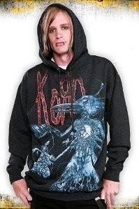 Korn Crow Pull Over Hoodie Gothic Heavy Metal Nu Alternative Band Jonathan Davis