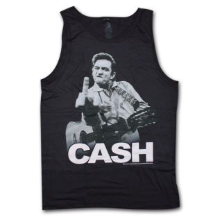 Johnny Cash Finger Tank Top Black