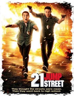 21 Jump Street V4 Movie T Shirt Jonah Hill Channing Tatum Poster DVD Blu Ray