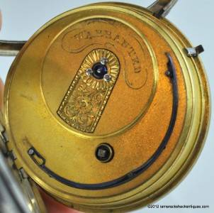 1848 Joseph Johnson Liverpool Fusee Key Wind Pocket Watch Sterling Silver Case