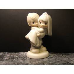 Precious moments 1982 Jonathan David BLESS YOU TWO cake topper