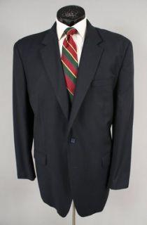 Jos A Bank Big Mens Dark Navy Blue 100 Wool Jacket Blazer 50 L
