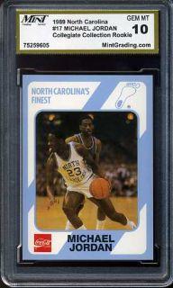 Michael Jordan North Carolina 17 MGS 10 Rookie Card