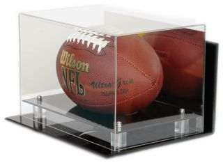 NEW FULL SIZE NFL NCAA FOOTBALL WALL MOUNT DISPLAY CASE