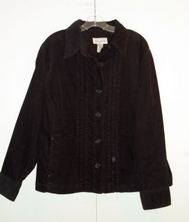 Jones New York Sport Woman Black Corduroy Jacket Size 2 X