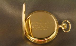 Tiffany 18kt Yellow Gold Pocket Watch Jabez Dunningham