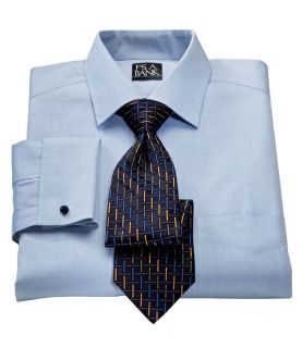 Jos A Bank Mens Factory Store Non Iron Tailored Fit Spread Collar French Cuff