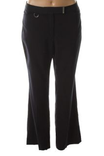 Jones New York NEW Blue Flat Front Boot Leg With D Ring Dress Pants Petites 8P