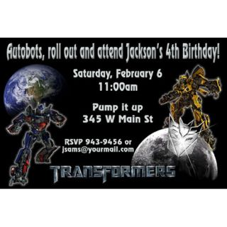 Transformers Birthday Party Set Invitation Digital File