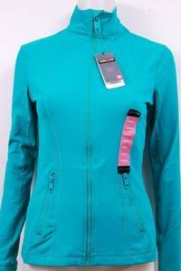 New Kirkland Signature Athletic Full Zip Yoga Jacket for Women in Green