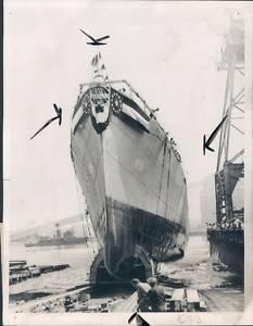 1945 US Navy USS Joseph P Kennedy Press Photo