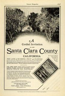1915 Ad Santa Clara County San Jose California Tourism Chamber Commerce Travel