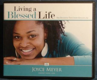 JOYCE MEYER AUDIOBOOK LIVING A BLESSED LIFE 4 CDS