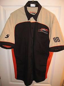 Nascar Race Used JR Motorsports Earnhardt Jr Pit Crew shop shirt Danica Patrick