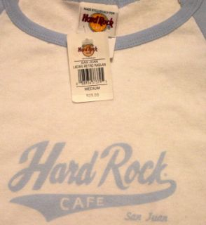 Hard Rock Cafe San Juan Ladies Retro Raglan T Shirt Medium