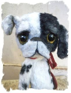 Antique Retro Style ★ Big Eye Sad Pity Puppy Dog Needs A Home★by Whendi's Bears
