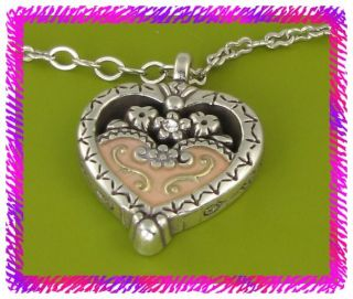 Brighton Silver Pink Joy Heart Necklace NWotag