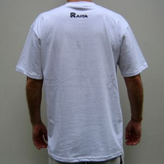 Conquering Lion of Judah Rasta Reggae T Shirt M White