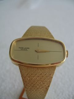 Vintage 18K Solid Gold Favre Leuba Watch Swiss New