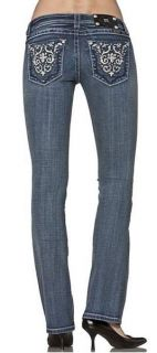 Miss Me Size 30 Glitz with Me Boot Cut Lowrise Stretch Jeans JP5395B3