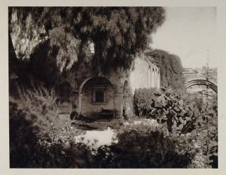1927 Cloisters Mission San Juan Capistrano California Original Photogravure