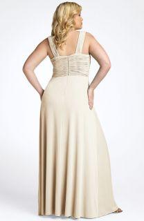 JS Boutique Ruched Bodice Gown Plus 20W