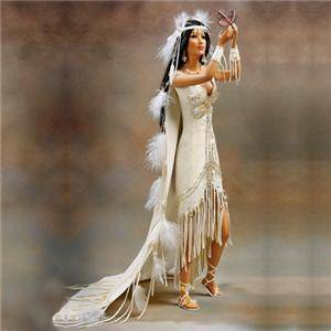 "Ashton Drake Love Takes Wings Indian Bride 22"" Porcelain Doll"