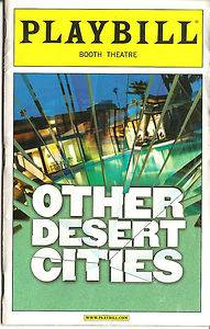 Other Desert Cities Color Broadway Playbill Stockard Channing Judith Light |