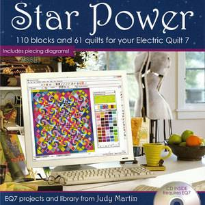 Star Power Judy Martin EQ7 Add in New Software CD 110 Blocks 61 Quilt Designs