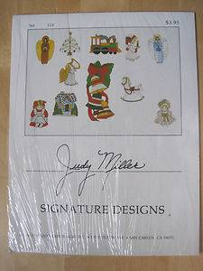 Stained Glass Judy Miller Christmas Images 114 Uncut Patterns NIP Estate Sale