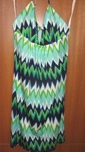 NWT Julie Brown Silk Zig Zag Tracy Dress Small $238