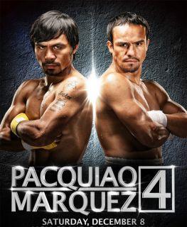 MANNY PACQUIAO VS JUAN MANUEL MARQUEZ 4 FOUR OFFICIAL BOXING PROGRAM
