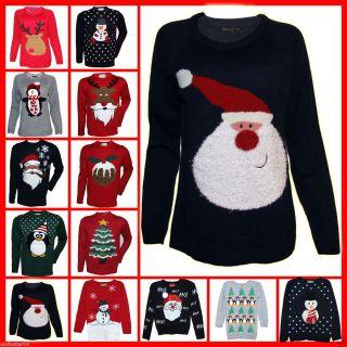 Ladies Mens Girls Boys Christmas Jumper Sweater Ladies 6 20 Mens XS s