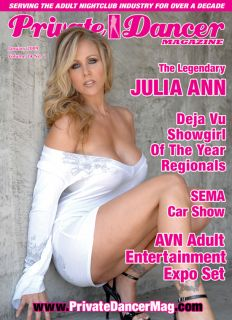 Private Dancer Magazine January 2009 Issue Featuring Julia Ann