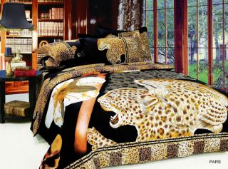 Wild Pars Jungle Twin Full Queen Duvet Bed Bedding Set