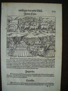 1535 c ATLAS JULIUS CAESAR ROME GIULIO CESARE ROMA POST INCUNABULA